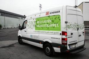 Miljöbil som går på gas